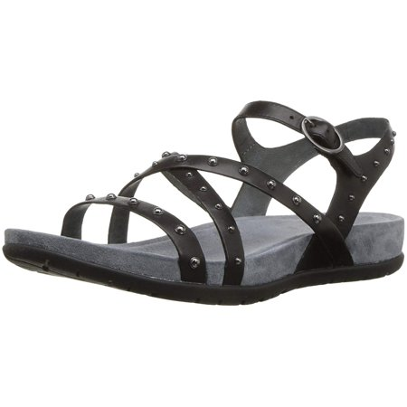Dansko Womens Brigitte Leather Open Toe Casual Ankle Strap, Black, Size 5.0 (Dansko Brown Sandals)