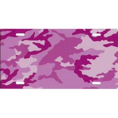 Pink Camo Airbrush License Plate Free Names on this Air Brush - image 1 of 2