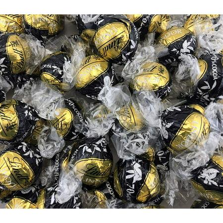 Lindt LINDOR 70% Cocoa Dark Chocolate Truffles, Gold Black Wrap (Pack of 2 (Dark Chocolate Truffles)