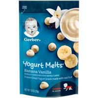 (Pack of 7) Gerber Yogurt Melts Banana Vanilla 1 oz.
