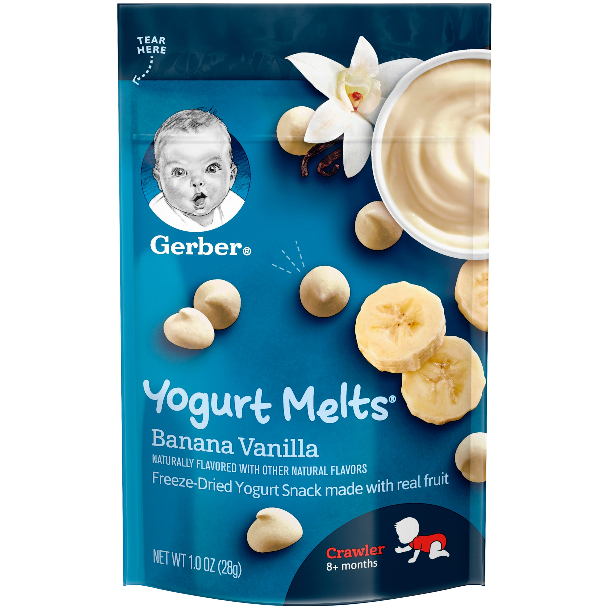 Gerber Yogurt Melts, Banana Vanilla, 1 oz (Pack of 7)