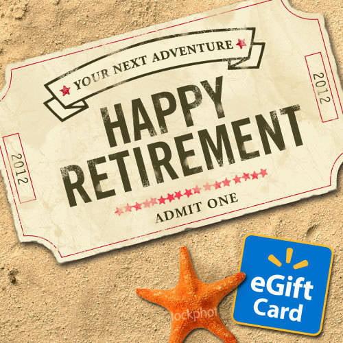 Happy Retirement Walmart eGift Card