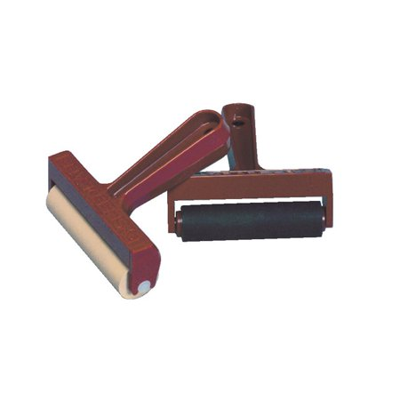 Speedball Pop-In Soft Rubber Brayer with Plastic Frame, 4 Inches (Speedball Frames)