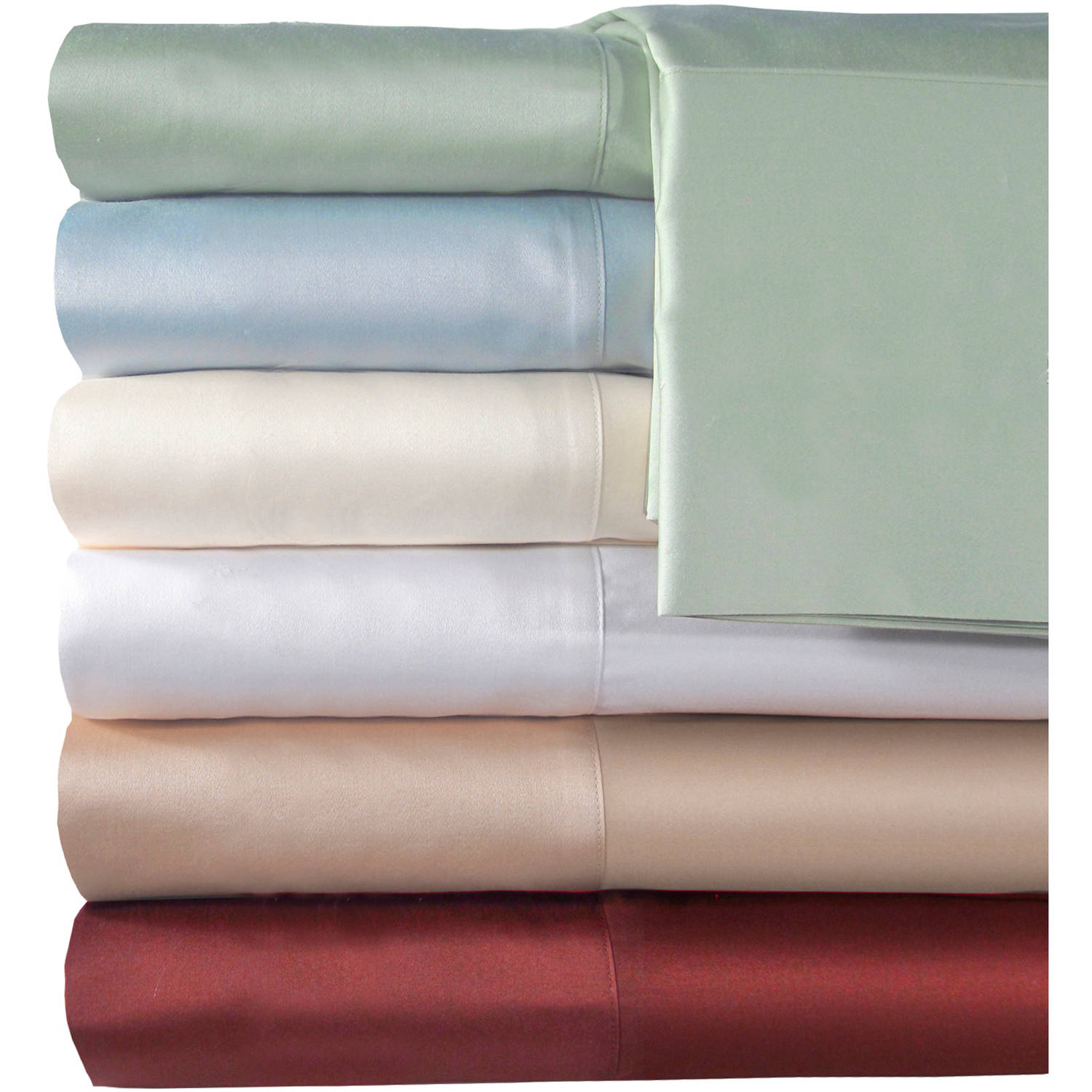 veratex inc supreme sateen 500thread count solid bedding sheet set walmartcom