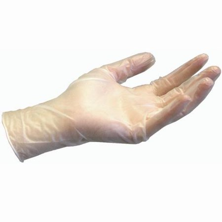 100Pcs Disposable Vinyl Medical Grade Gloves Non-Latex Lightly Powdered Strong Stretchy Gloves for Home Food Laboratory Use - Smooth Clear - Size XL (Sterex) - image 1 de 3