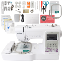 "Brother SE600 Sewing & Embroidery Machine w/ 4"" x 4"" Embroidery Bundle"
