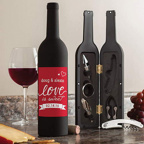 Personalized Love Is Sweet Wine Kit