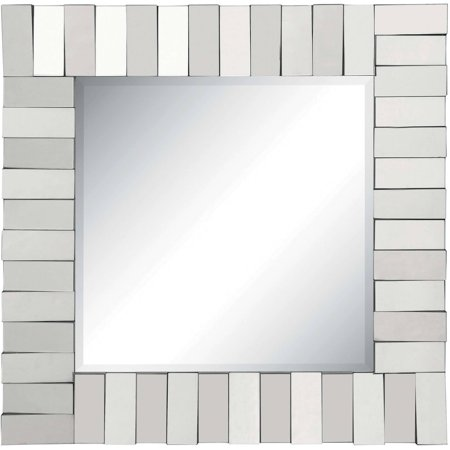 Coaster Company Square Silver Mirror with Layered Panels