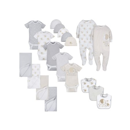 Gerber Layette Essentials Baby Shower Gift Set, 19pc (Baby Boys or Baby Girls, Unisex)