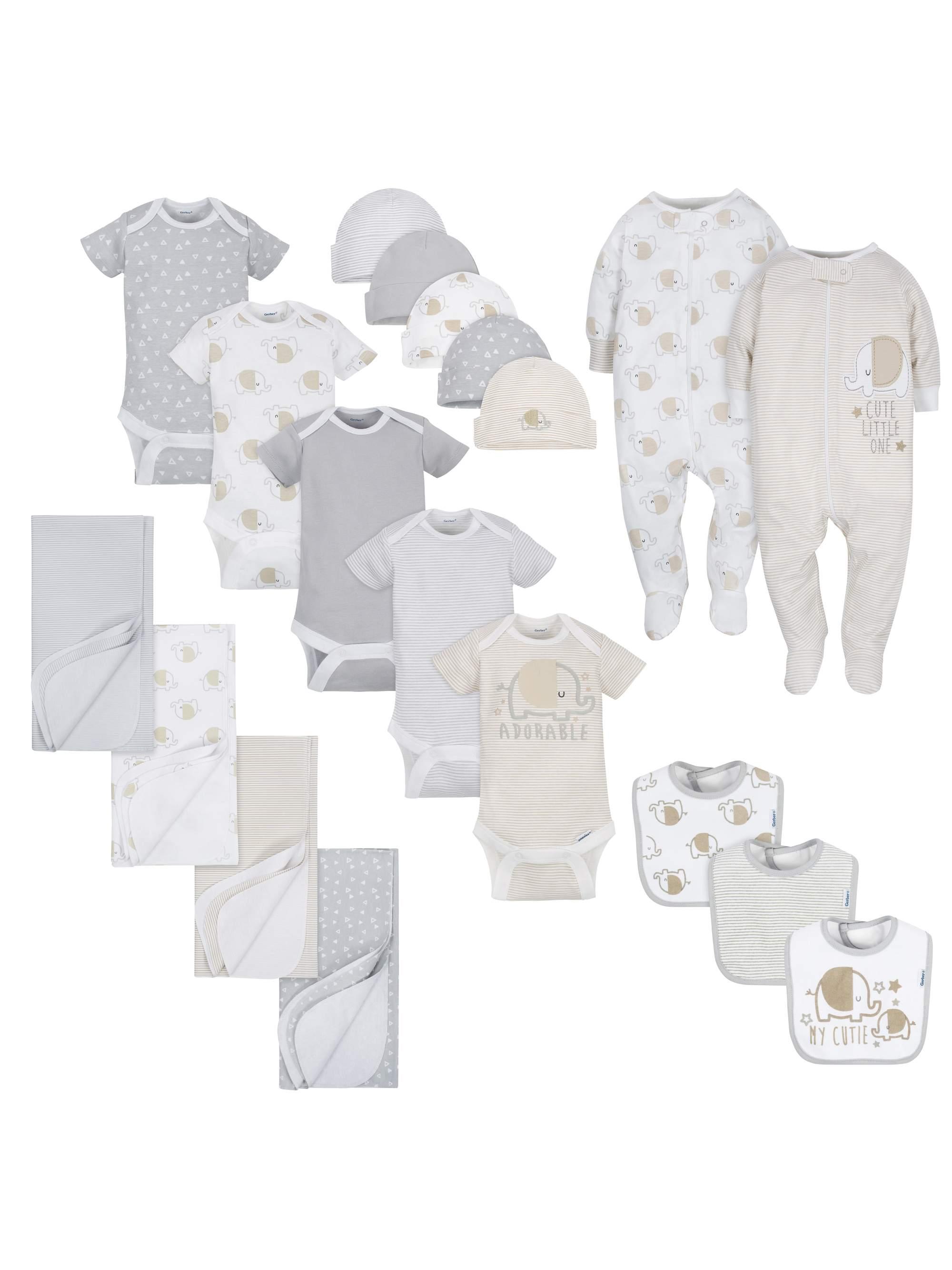 Layette Essentials Baby Shower Gift Set, 19pc (Baby Boy or Baby Girl Unisex)