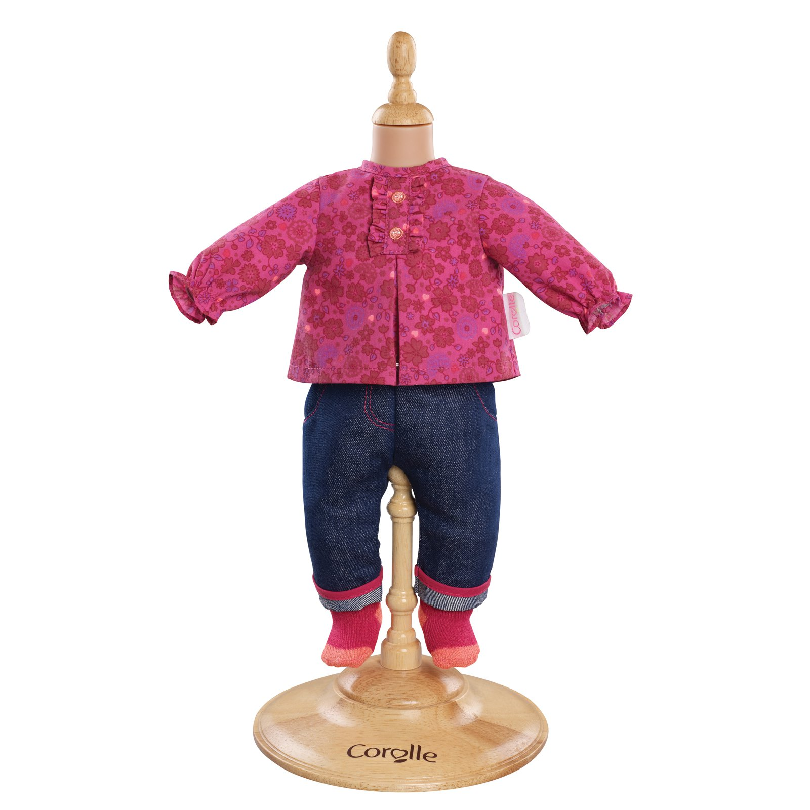 Corolle Mon Classiques Bebe 14 in. Grenadine Blouse & Denim Doll Ensemble by Corolle