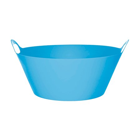 Caribbean Blue Round Plastic Party Tub 19in](Plastic Party Tubs)