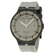 Porsche Design Flat Six Automatic Grey Dial Grey Rubber Men's Watch 6350.43.94.1255
