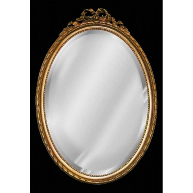 HMH 5055AG Oval with Bow Mirror - Antique Gold