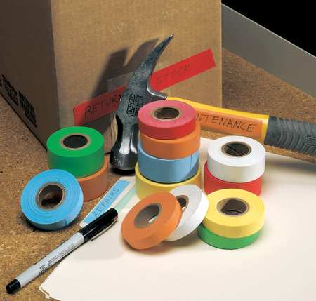 ROLL PRODUCTS Carton Tape,Paper,Yellow,1/2 In x 14 Yd, 48858Y