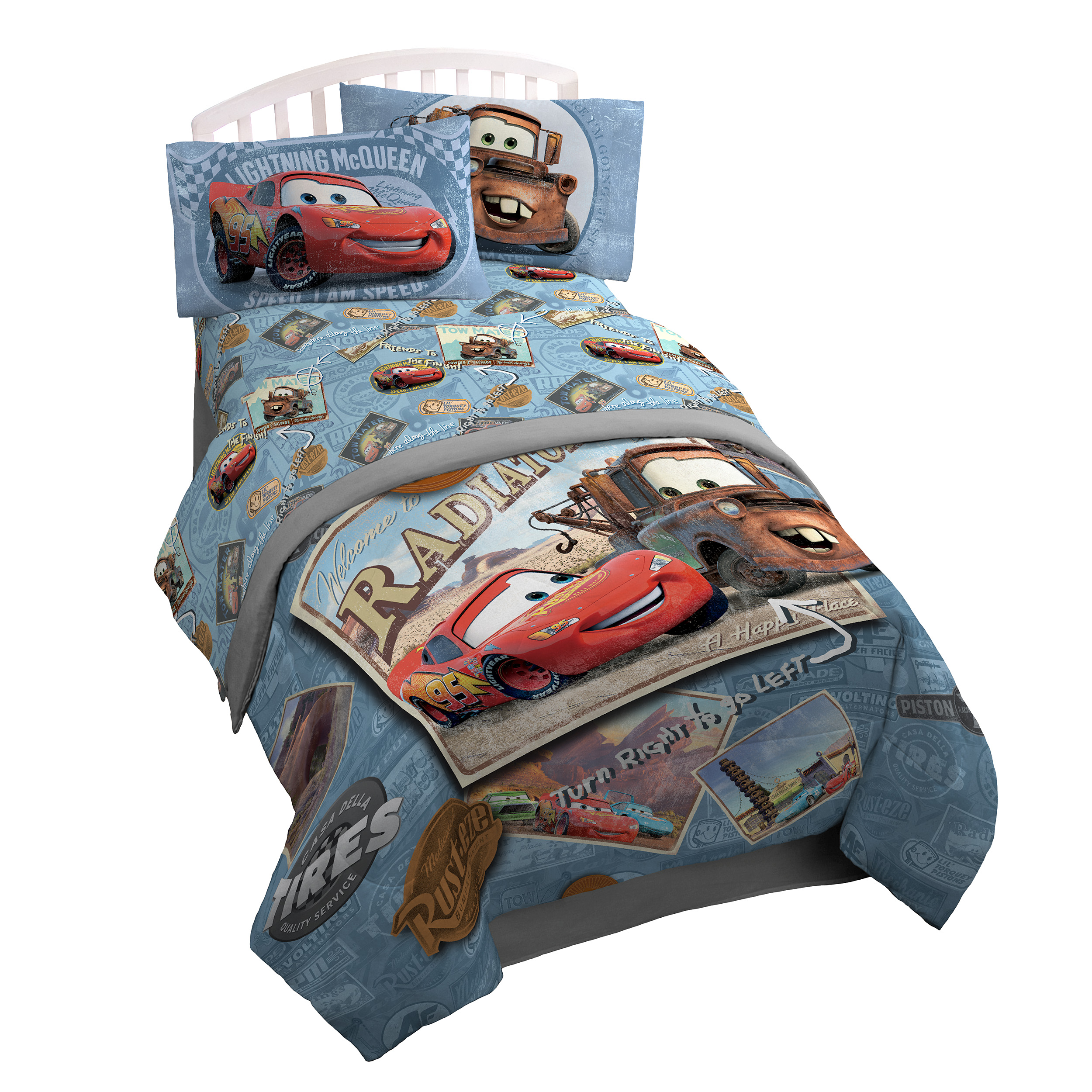 Disney Cars Tune Up Twin/Full Reversible Comforter