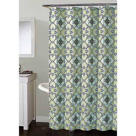 Millhouse Shower Curtain Blue Green 72x7