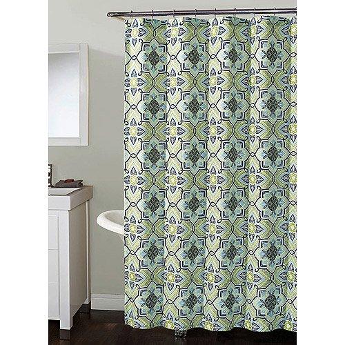 Millhouse Shower Curtain Blue Green 72x7