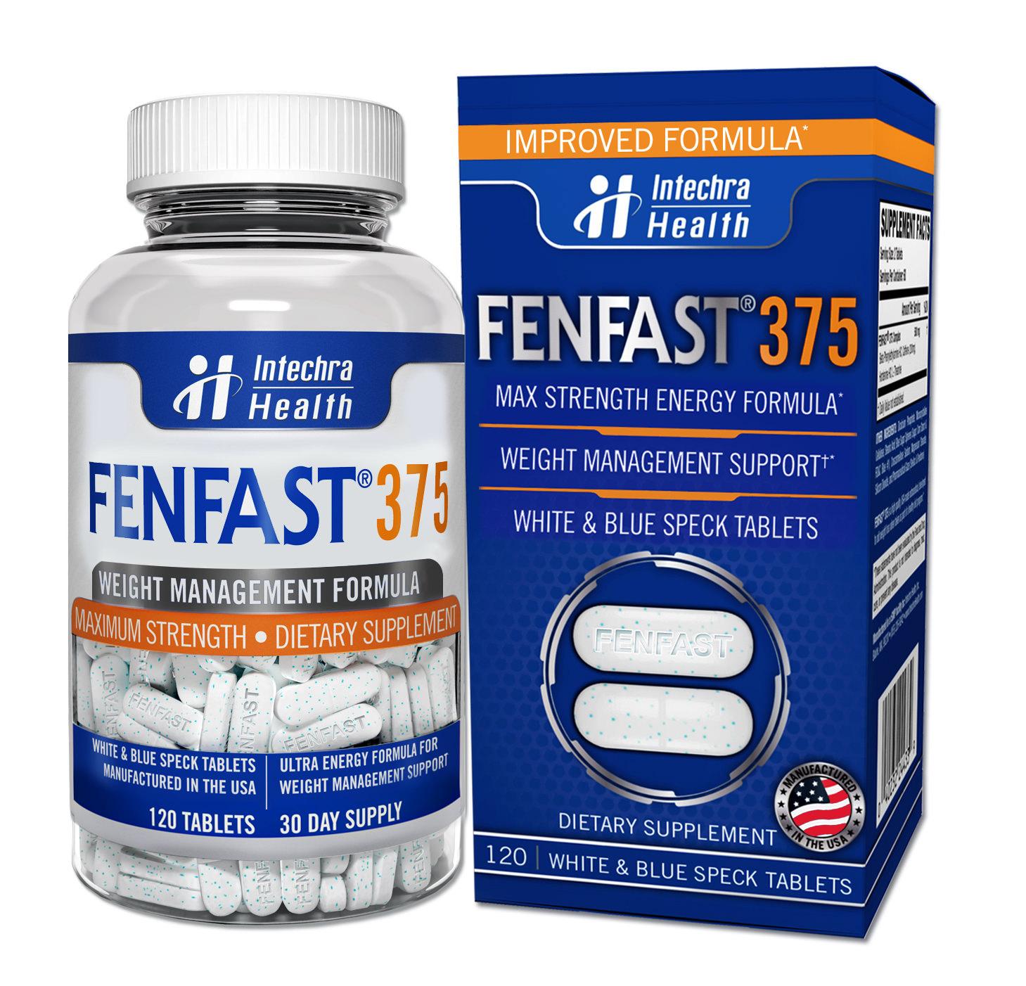 FENFAST 375 Maximum Strength Dietary Supplement, Weight Management Formula, 120 Count
