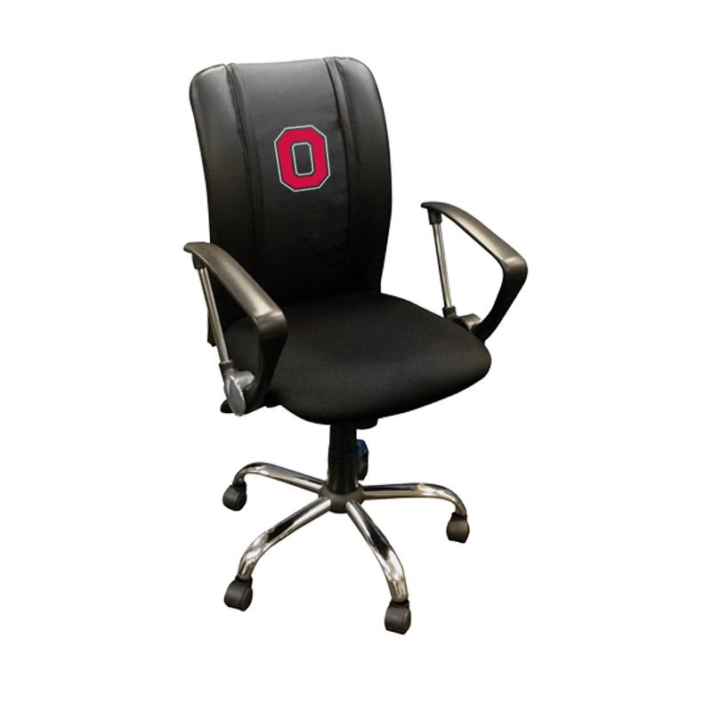 Ohio State University Collegiate Curve Task Chair with Buckeyes Block O logo