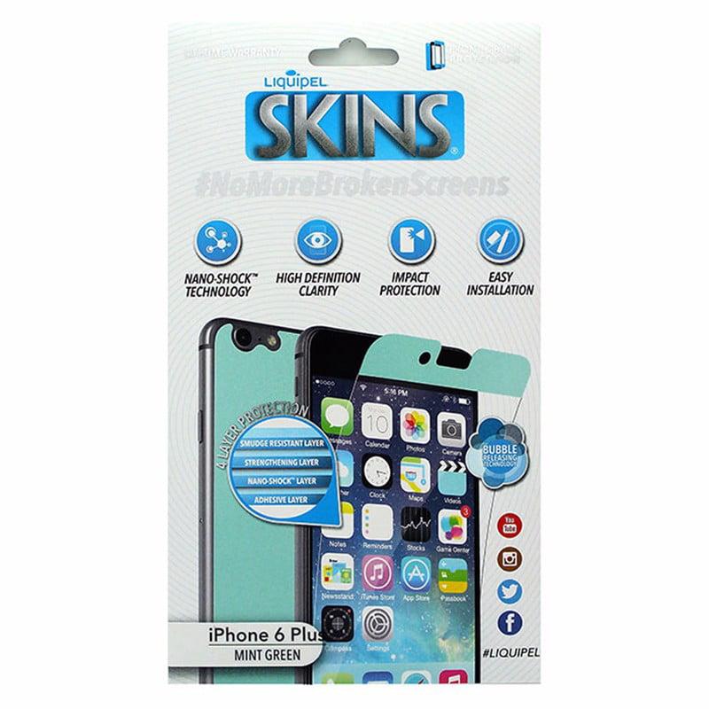 Liquipel Skins Mint Green Front & Back Screen Protector iPhone 6 Plus 6S Plus