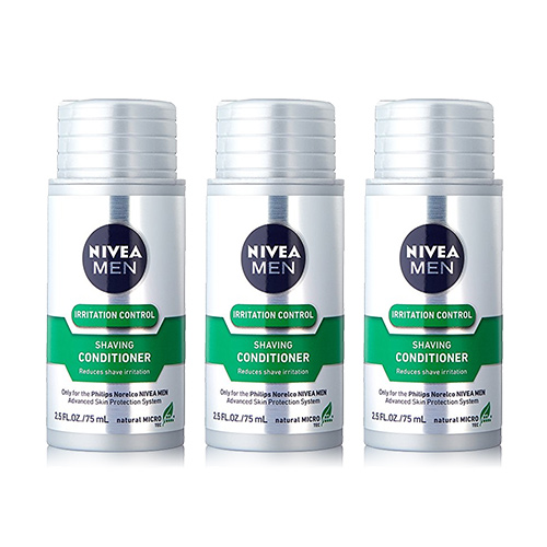 Norelco Shaving Conditioner Nivea For Men Compatible w/ QC5130 Model (3-Pack)