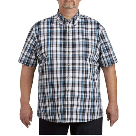 Heritage Plaid Shirt - Men's Big & Tall Easy Care Short Sleeve Plaid Shirt, up to size 7XL
