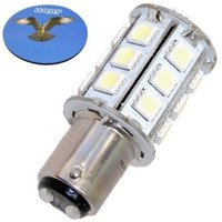 HQRP BA15d Base 24LED Marine Boat Bulb for 1076 1130 1176 1142 replacement 6300-7000 Cool White 10-30V DC Light plus HQRP Coaster