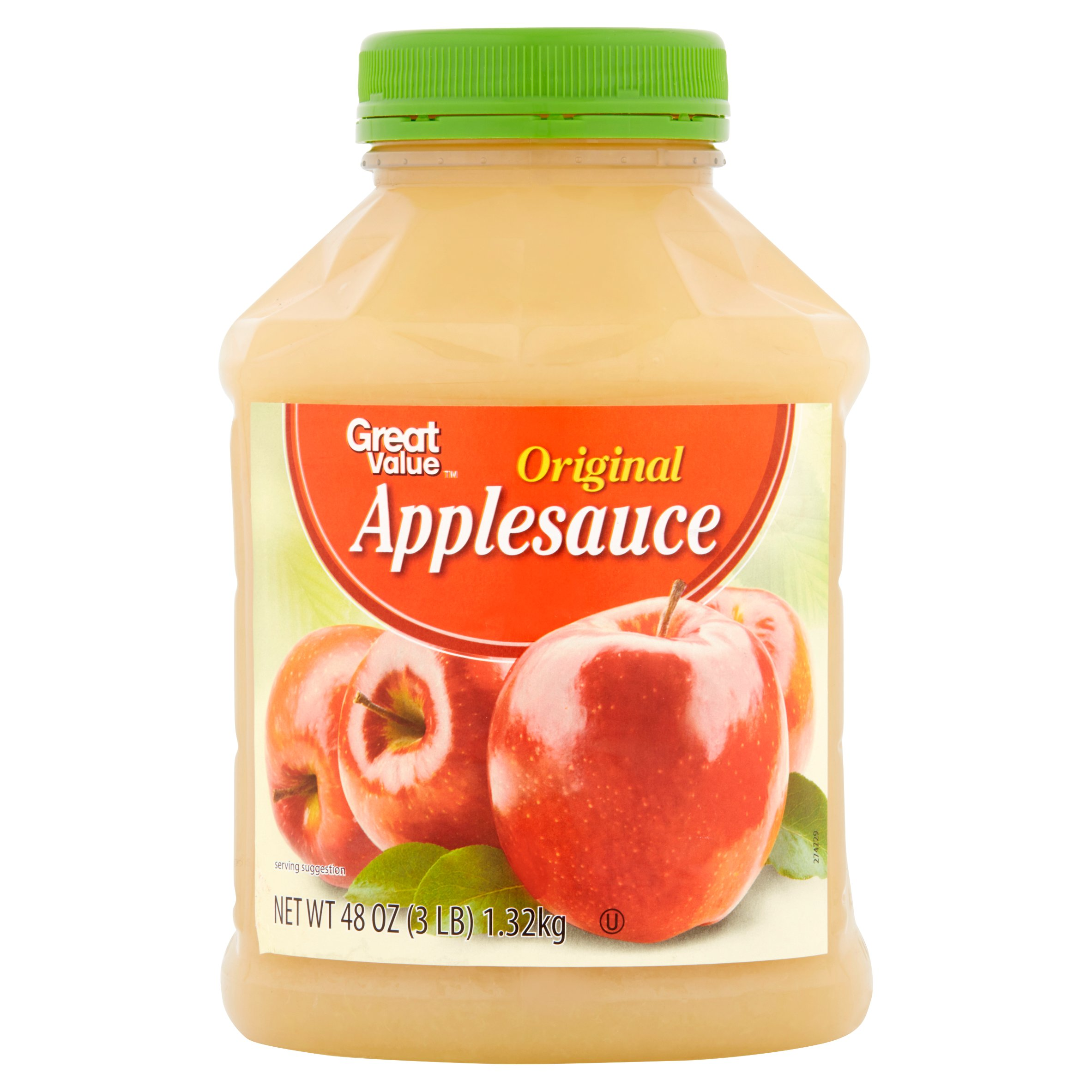 Great Value Original Applesauce, 48 oz