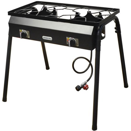 Auto Ignition Double Portable Propane High Pressure Camp Stove Burner