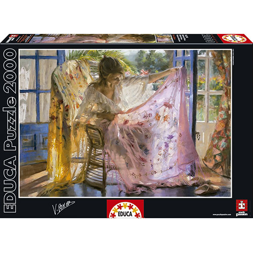 Educa 2000pc Pink Shawl, Vicente Romero Puzzle
