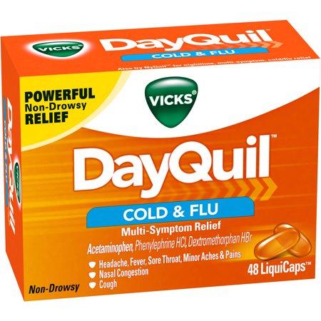 Vicks DayQuil Rhume et grippe secours multi-Symptôme LiquiCaps, 48 count