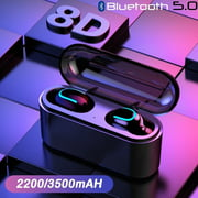 2200mAh/3500mAh Bluetooth 5.0 TWS Wireless Bluetooth Headphones In-ear Earbuds Ear Buds Twins Earphones Noise Reduction Earbud Headset with Charging Box