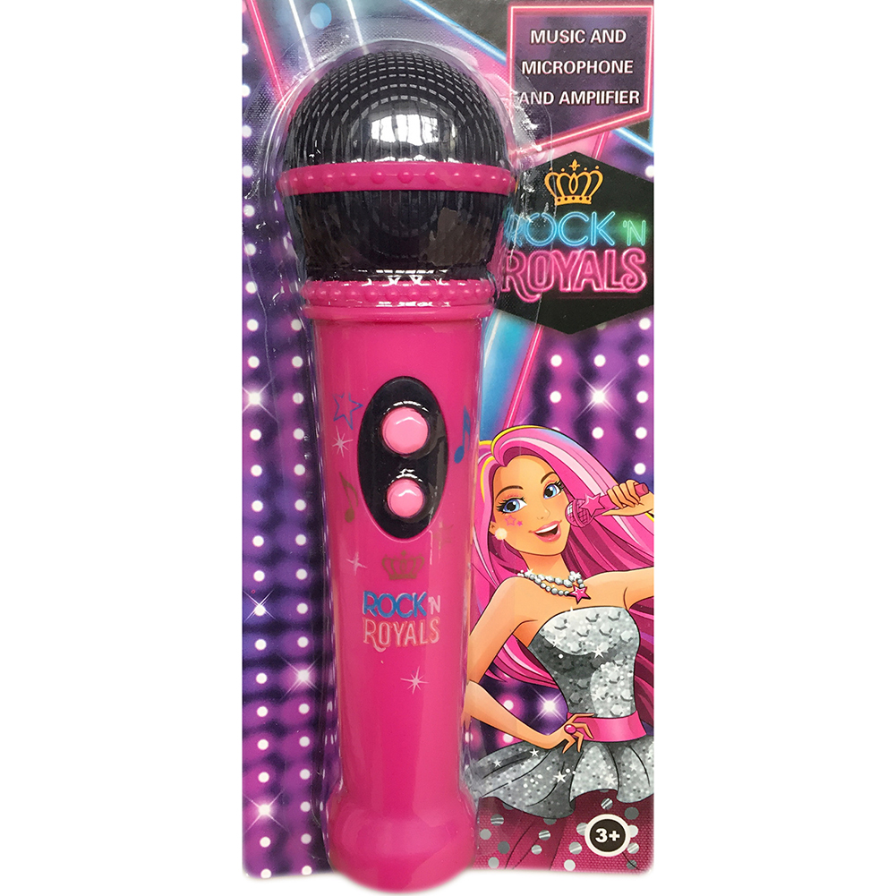 Kids Microphone Music Player Built In Speaker, Children Karaoke Toys Color:Pink - image 1 de 6
