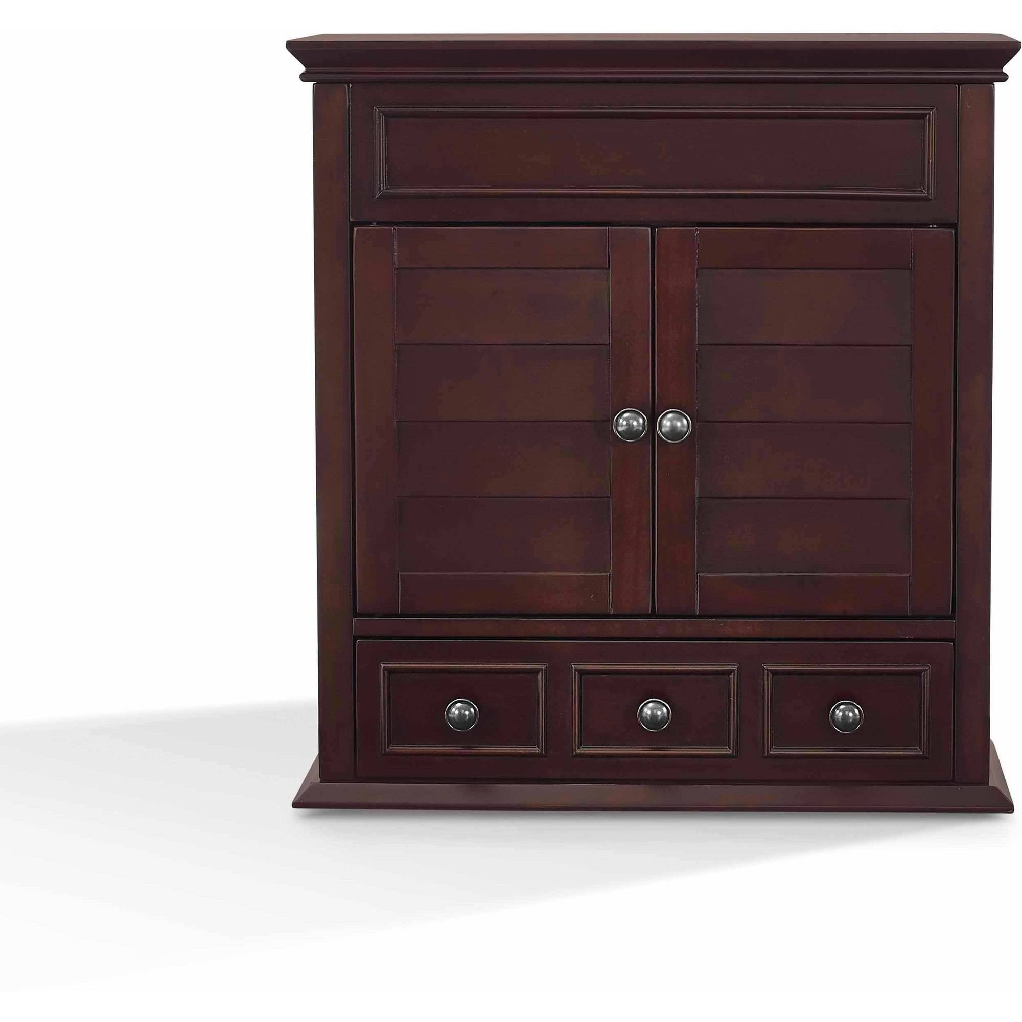 Bathroom Storage Cabinets Espresso home bathroom furniture traditional style wall solid hardwood