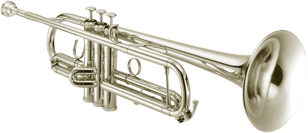 Jupiter JTR1100S Performance Series Bb Trumpet with Reverse Leadpipe Silver plated Yellow... by Jupiter