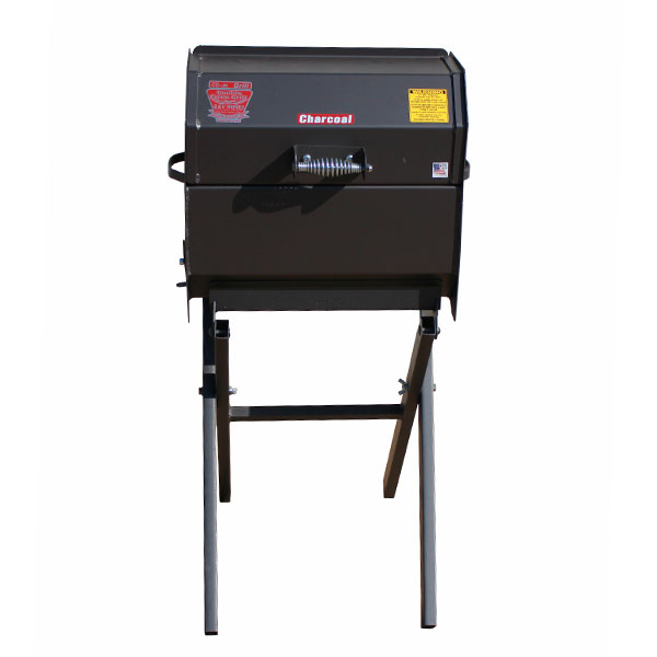 R&V WORKS Cajun Smokin Stainless Junior Charcoal Grill on Folding Stand by R&V Works