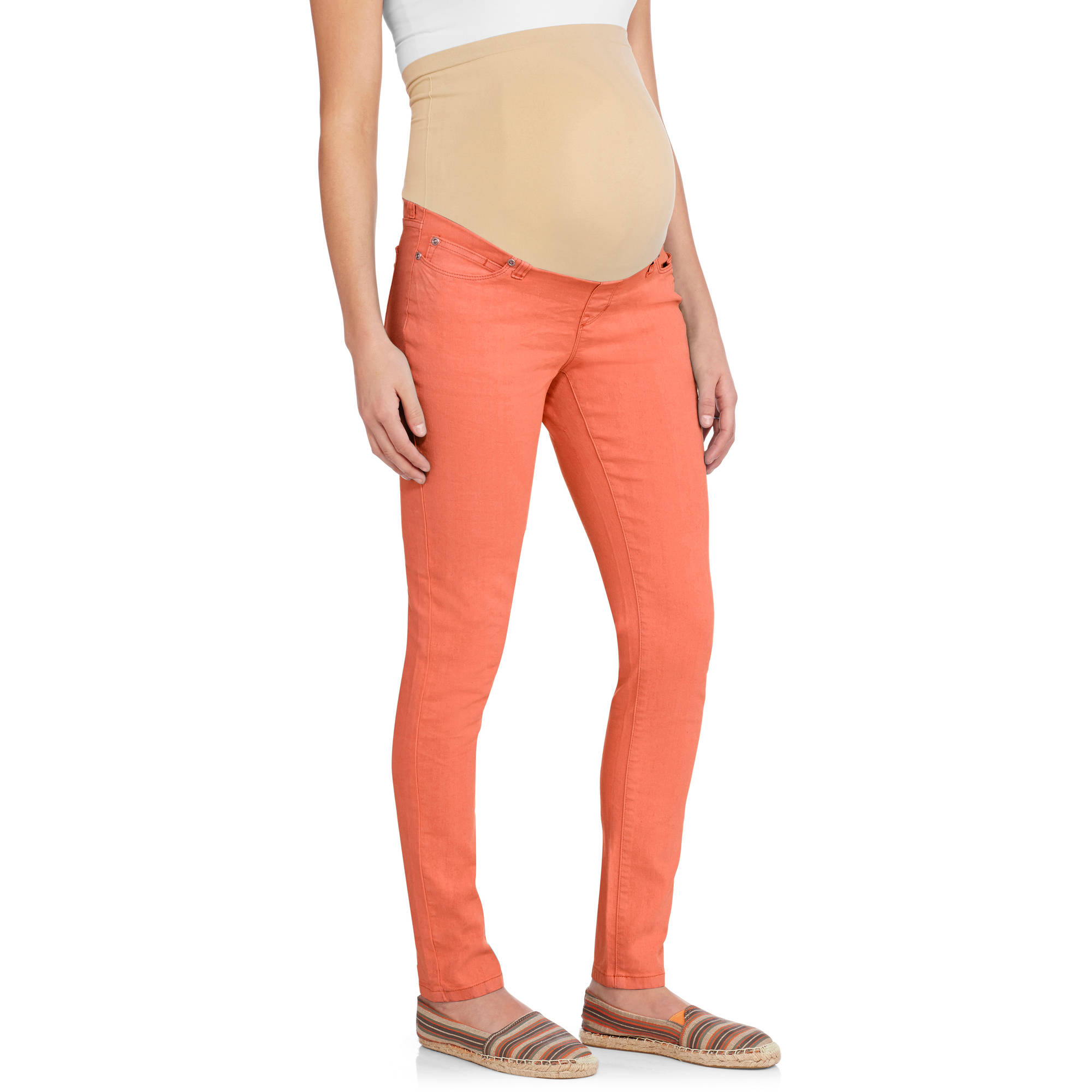 Planet Motherhood Maternity Full Panel Colored Skinny Jeans ...