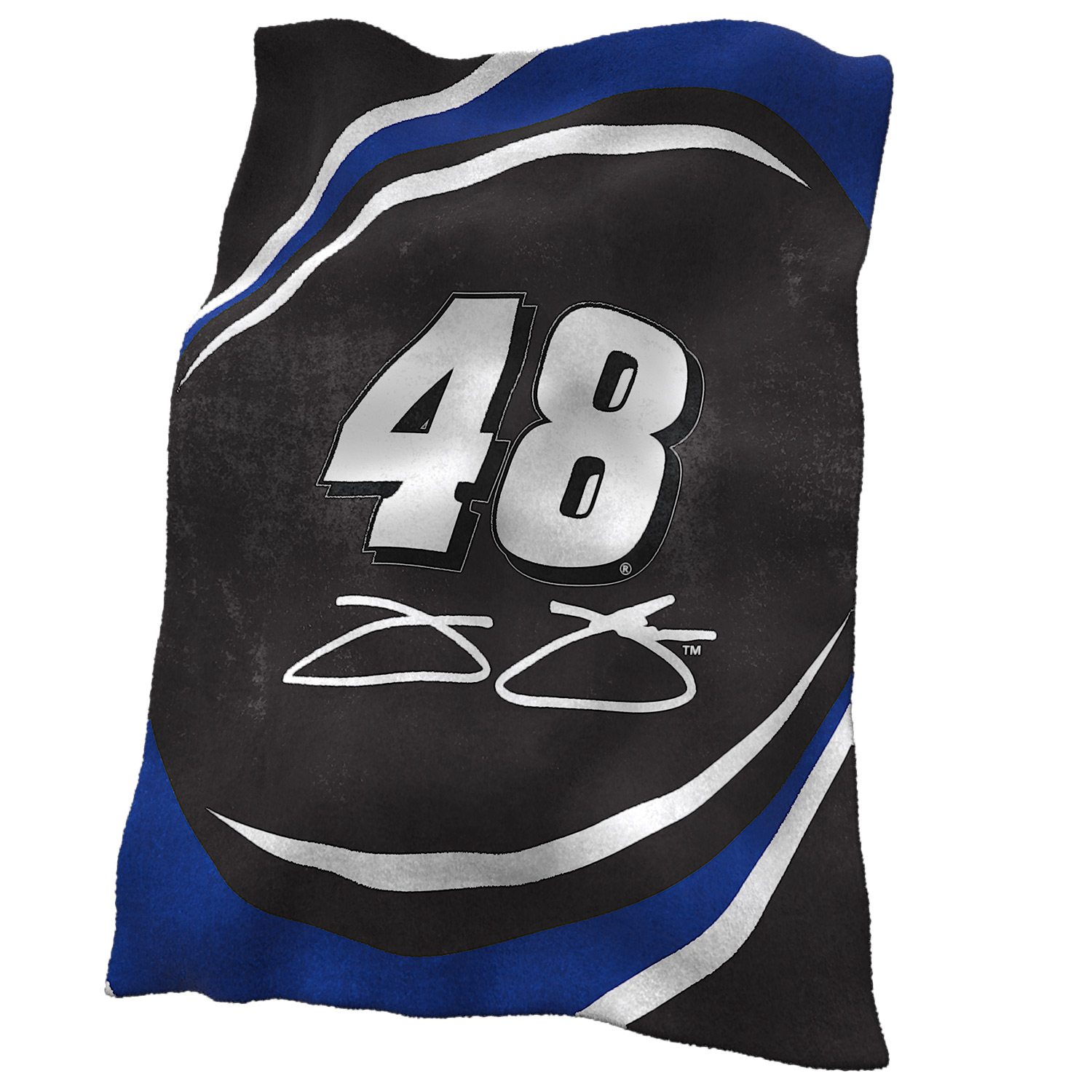 Jimmie Johnson Official NASCAR 84 inch  x 54 inch  Ultrasoft Blanket by Logo