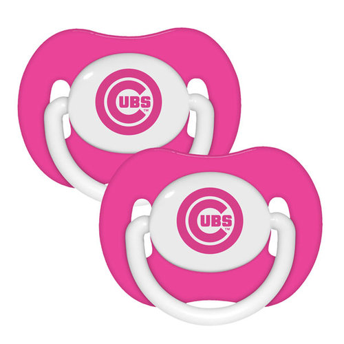 2 Pack Pink Pacifiers - Chicago Cubs Chicago Cubs BFBBCHICPP