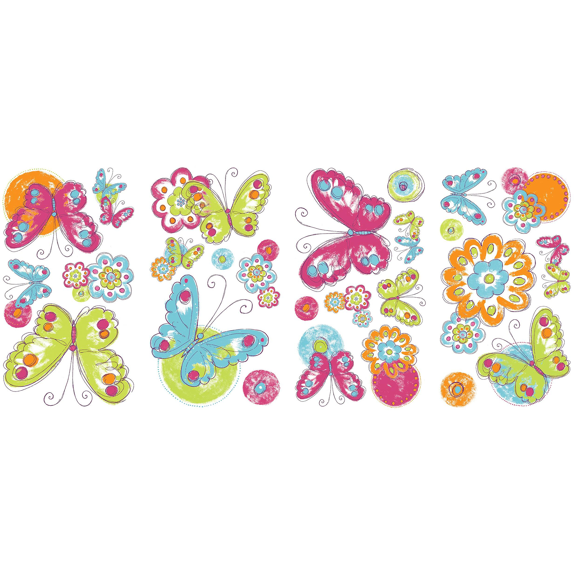 Brushwork Butterfly Peel-and-Stick Wall Decals