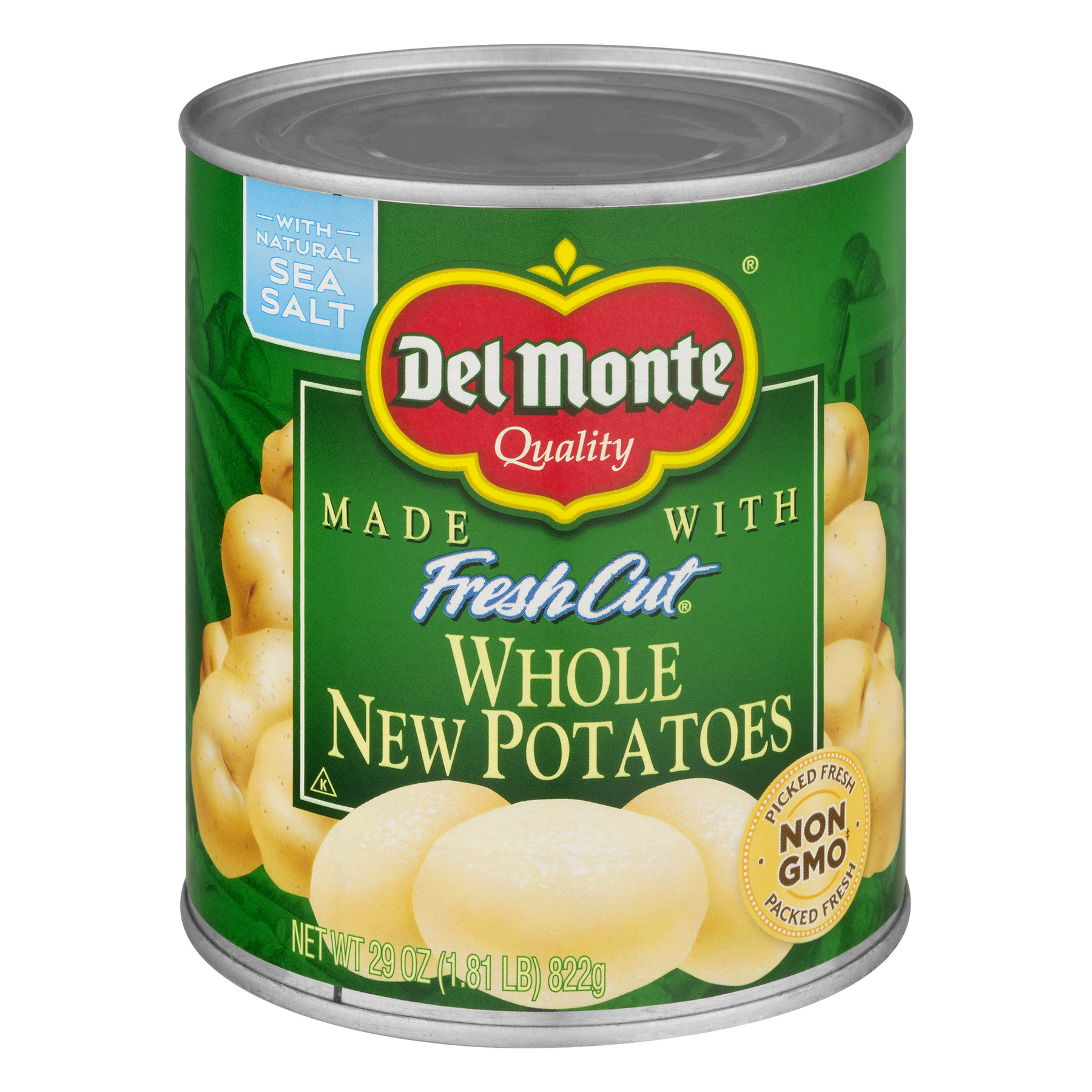 Del Monte Fresh Cut Whole New Potatoes, 29 Oz