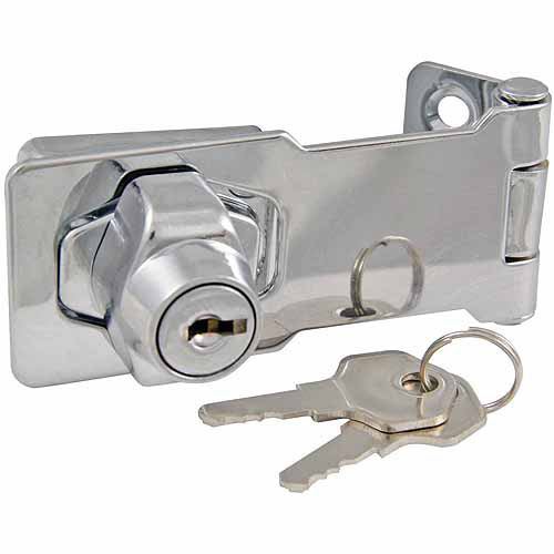 Ultra Chrome Plated lock with Hasp
