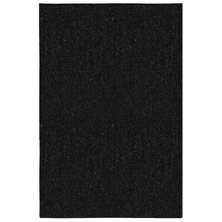 Galaxy Way Solid Color Indoor Outdoor Area Rugs Black - 8'x10'