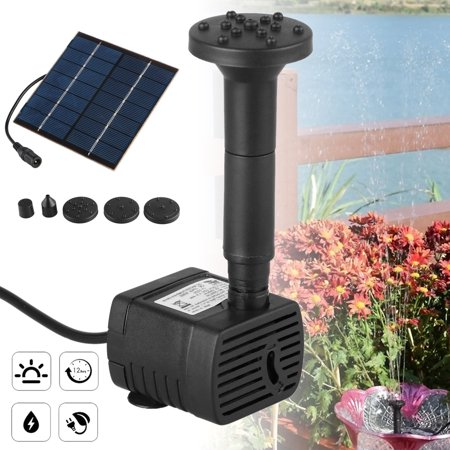 Solar Water Panel Power Fountain Pump Set Pool Garden Pond Watering -