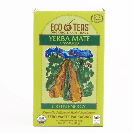 Eco Teas Yerba Mate Tea 24 Count 1 7 Oz Each  1 Item Per Order  Not Per Case