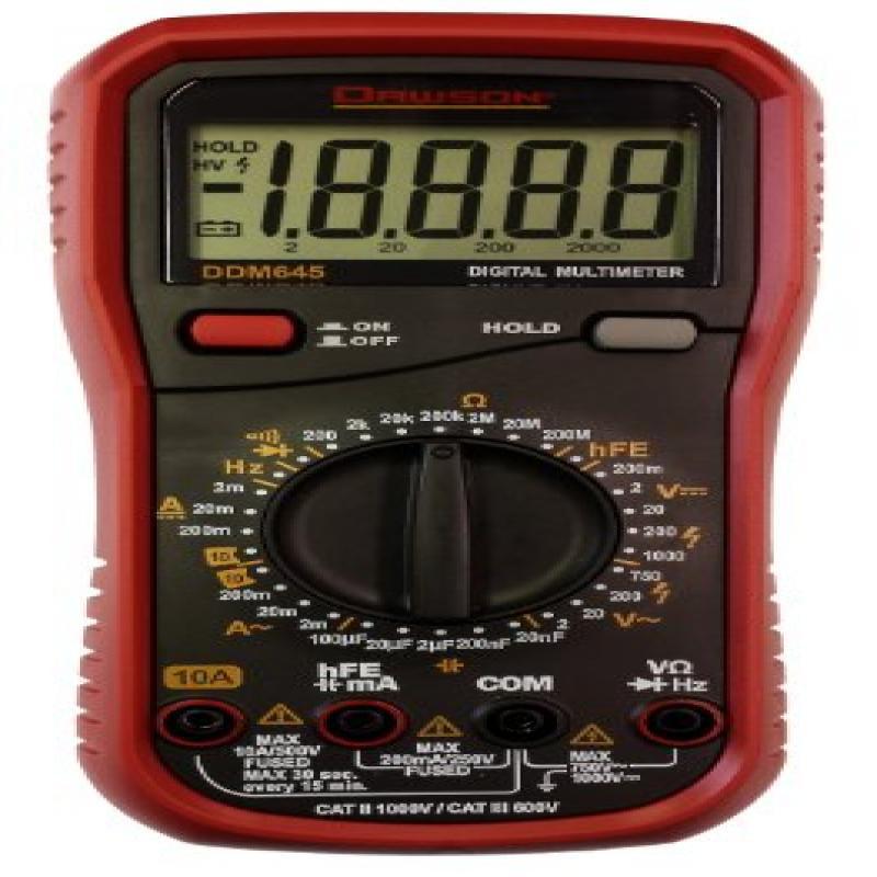 Dawson DDM645 Digital Multimeter w/ 20,000 Count Display
