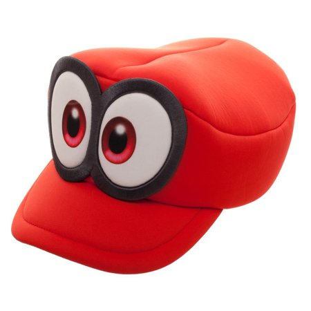 Mario Odyssey Cosplay Red Hat - Toad Mario Hat