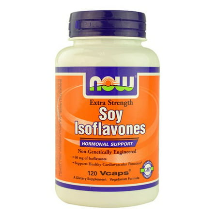 NOW Foods Soy Isoflavones Hormonal Support, Extra Strength, 120 Ct ()