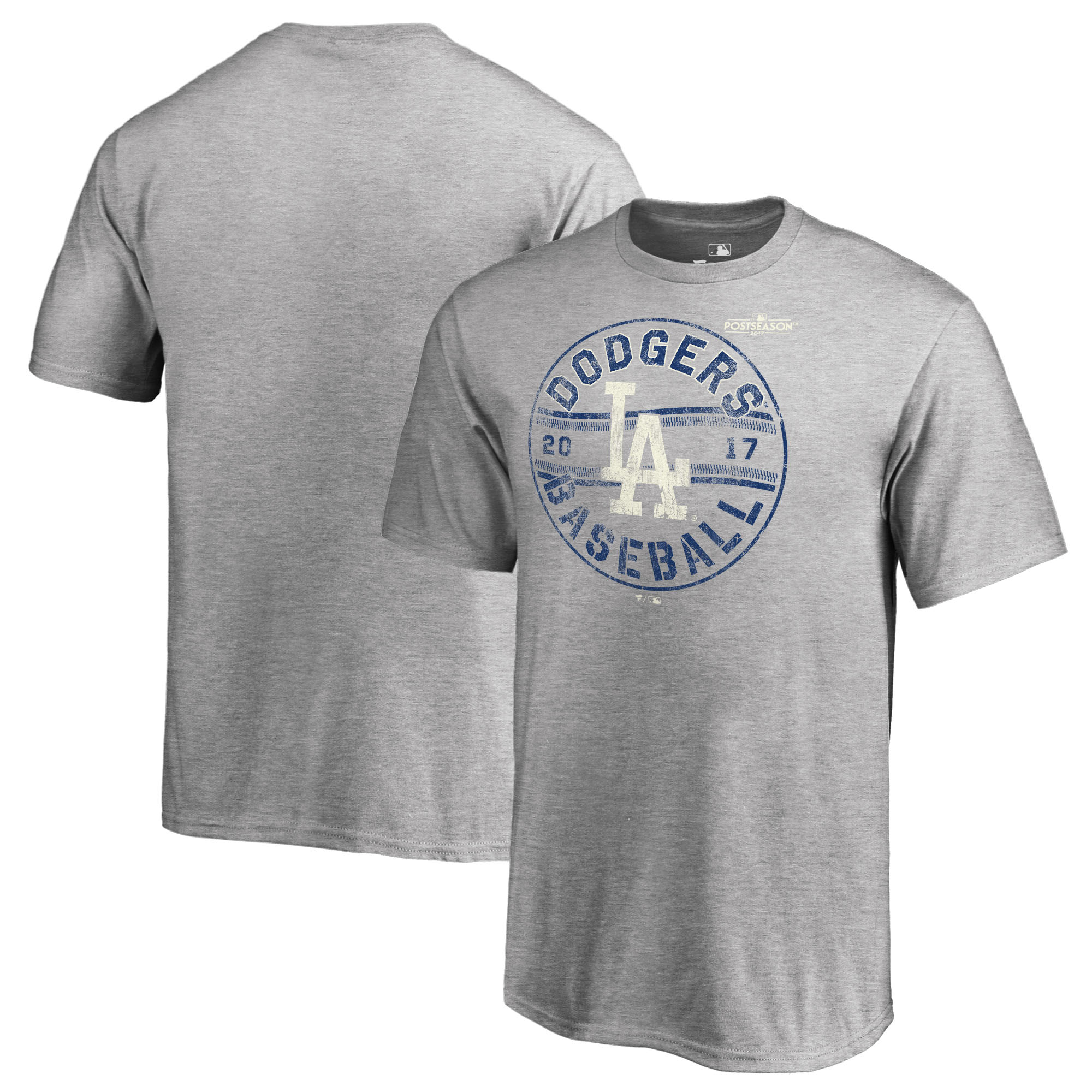 Los Angeles Dodgers Fanatics Branded Youth 2017 Postseason Changeup Tri-Blend T-Shirt - Heather Gray